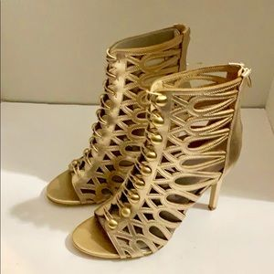 Guess Gold Ankle Heels
